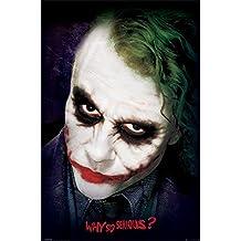 PopArtUK–Póster de la cara Joker de el caballero oscuro, madera, multicolor