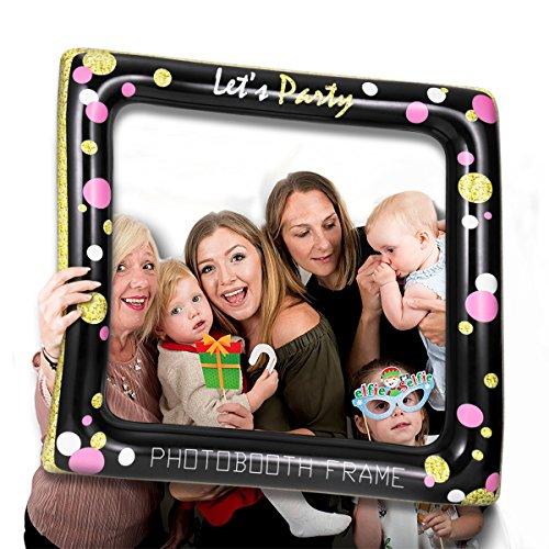 LUOEM Aufblasbare Selfie Frame Foto Requisiten Selfie Bild Photobooth Rahmen für Geburtstag Hochzeit Brautdusche Baby Dusche Sommer Pool Party Supply
