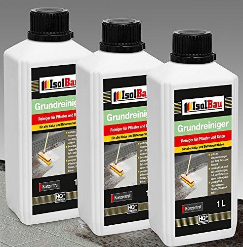 3 Liter GRUNDREINIGER - Konzentrat Intensiv Naturstein Reiniger Marmor Fliesen, Stein und Beton -