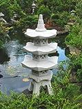 3-geschößige Japanische Steinlaterne - aus 9 Teilen bestehend für den Garten