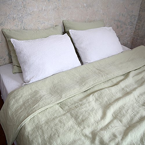 LinenMe 140 x 200 cm 100 Percent Linen Stone Washed Bed Duvet,...