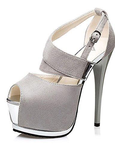 WSS 2016 Chaussures Femme-Décontracté-Noir / Rose / Gris / Bordeaux-Talon Aiguille-Talons-Chaussures à Talons-Laine synthétique pink-us8 / eu39 / uk6 / cn39