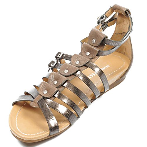 NINE WEST - Sandali Piatto Donna NWBUZZIE PEWTER TAUPE Multicolore