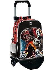 Disney 25924M1 Star Wars Battle Mochila Escolar, 27.72 Litros, Color Negro