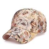 AdorabFitting-Cap Cap Hat Chapeau Casquette Baseballcap Été Dentelle Casquette Hipster extérieur Casquette de Baseball Mode féminine Casquette Parasol crème Solaire Marron