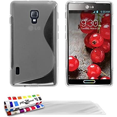 Muzzano F19272 - Funda para LG Optimus L7 II, incluye 3 protectores de pantalla, transparente