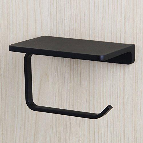 Matte Black Cast (Yiqinyuan Zink-Legierung Plus Messing Bad Papierhalter Und Regal Bad Handy Handtuchhalter Toilettenpapierhalter Box Tissue Box Matte Black)