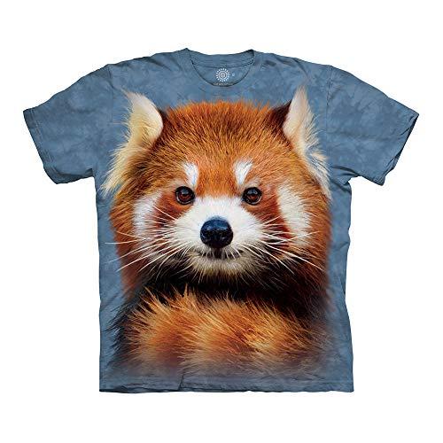 The Mountain Unisex-Erwachsene Red Panda Portrait T-Shirt, blau, XX-Large