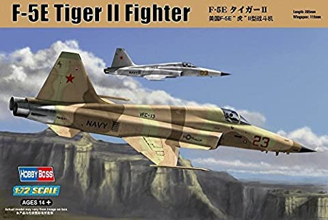 Hobbyboss 1:72 Scale F-5E Tiger II Fighter Re-Edition Assembly Kit by Hobbyboss