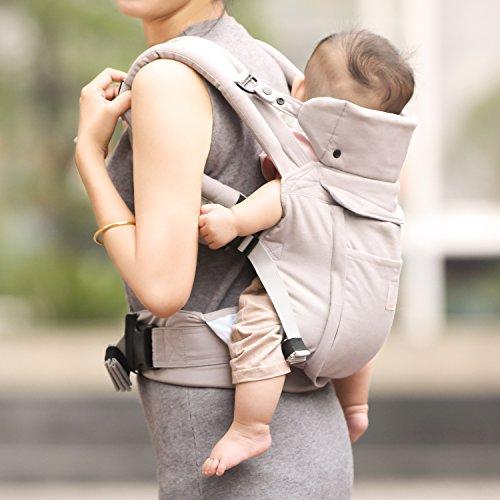 44f2f2523270 GAGAKU Ergonomique Avant et Arrière Respirant Porte-bébé avec Poches ...