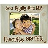 [Sponsored]Yaya Cafe Rakhi Gifts For Sister Photo Frame For Table Favorite Sister Engraved Wooden