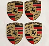Porsche Wappen★4 Stück Aufkleber Emblem Felgen Nabendeckel Radkappen 35x45mm