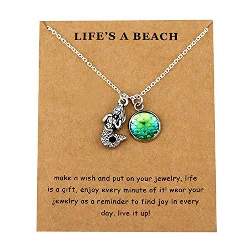 HHDYGASRW Schildkröte Halsketten Ocean Waves Beach Shell Muschelschale Männer Frauen Unisex Trendy Schmuck Liebhaber Weihnachtsgeschenk -