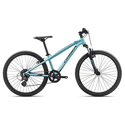 Orbea MX 24 XC Kinder Fahrrad 24 Zoll 8 Gang MTB Rad Aluminium Mountain Bike, I016, Farbe Blau Rosa -