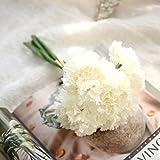 Mitlfuny Unechte Blumen, Künstliche gefälschte Blumen Nelken Floral Hochzeit Bouquet Braut Hortensie Dekor Haus Garten Party Blumenschmuck (B)