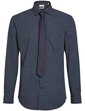 next Hombre Camisa Estampado Geométrico