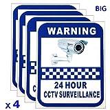 Bloomerang Autocollants d'avertissement pour Camã©Ra 4xCCTV Surveillance Vinyl Decal Video Security Sign Nouveau