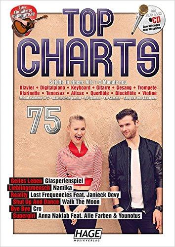 Top Charts 75 mit CD: Die 6 besten aktuellen Hits aus den Charts in einer Ausgabe! (80er Top-hits Jahre)