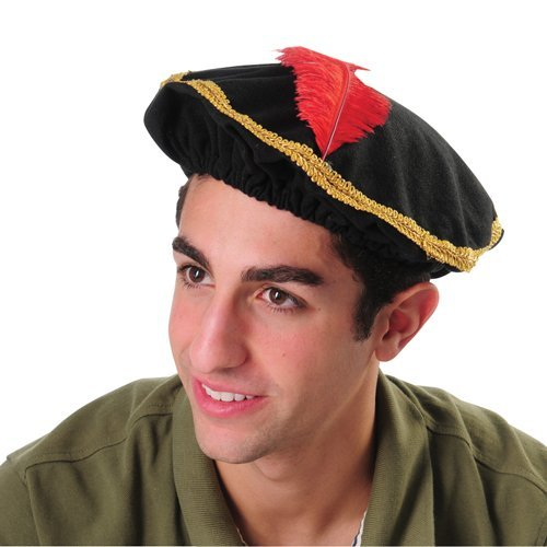 us-toy-red-feather-renaissance-hat-with-gold-trim-one