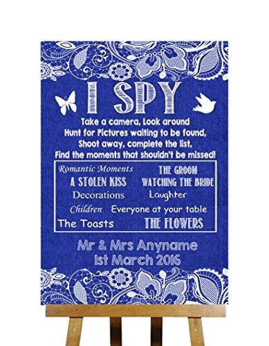 blu-navy-burlap-lace-collection-i-spy-fotocamera-usa-e-getta-personalizzato-stampato-di-nozze-segno-