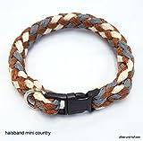 elropet Hundehalsband Mini für die Kleinen rundgeflochten Tauwerk Country (33cm)