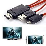 DSHS, cavo adattatore MHL 11 pin da micro USB a HDMI 1080p HDTV per Samsung Galaxy, Note, Galaxy Tab, Galaxy Note