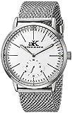 ADEE KAYE AK9044N-M/SV - Reloj de pulsera hombre, acero inoxidable, color Plata