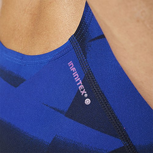 adidas Damen Infinitex+ Graphic Badeanzug Blue