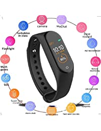 KDENTERPRISE AM-4 Smart Band Bluetooth Waterproof Heart Rate Monitor Smart Screen Bracelet Fitness Tracker (Free Size, Black) Pack of 1