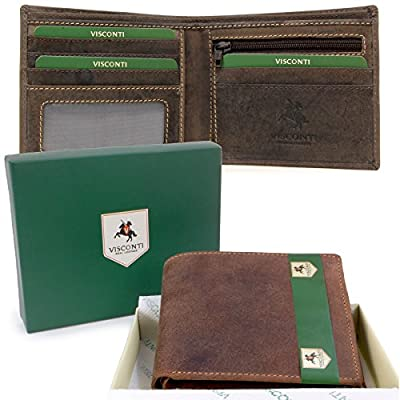 Visconti Wallet - 707 Shield - Hunter Leather