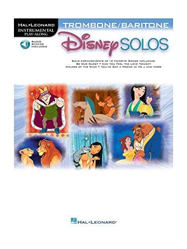 Disney Solos (Trombone Or Baritone) (Book/Online Audio). For Trombone, Flicorno Baritono