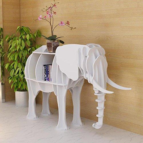 ORPERSIST Regal Landung Lagerung Ornamente Holz Bogen Elefanten Modellierung Bücherregal...