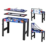 5 in 1 Folding Multi Game Table - Pool Table/Air Hockey/Basketball/Table Tennis/Bow