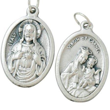 Sacré Cœur de Jésus Médaille. Scapulaire Médaille. Notre Dame de
