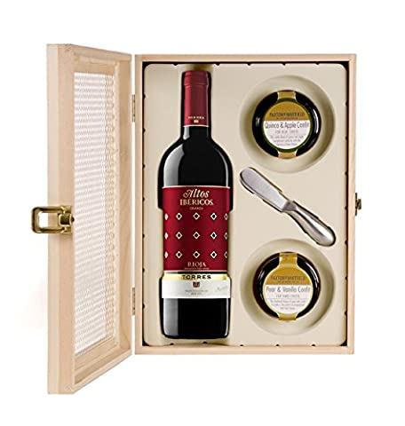 Torres Rioja/Paxton/Whitfield Confits and Spreading Knife Set in Mesh Front Wooden Gift Box