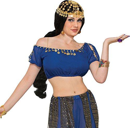 Jasmin Accessoires Prinzessin Kostüm - Damen Arabisch Jasmin Kostüm Zubehör Wüste Prinzessin Münze Kopfbedeckung