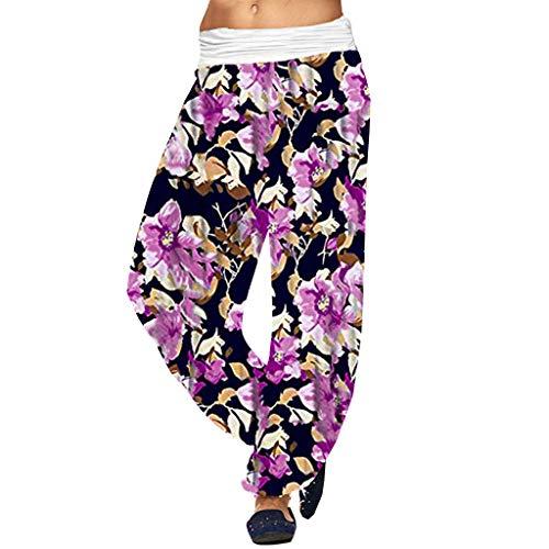 Hanomes Pantalones Para Mujer Venta 2019 Nuevas Damas Tallas Grandes Estampado Bohemio Sueltos Smocked Cintura Harem Hippie Leggings Boho Yoga Gym Pantalones