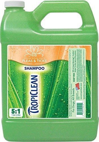 Tropiclean Neem Natural Flea & Tick Shampoo Gal by Tropiclean Tick Shampoo