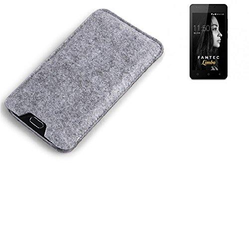 K-S-Trade Filz Schutz Hülle für FANTEC Limbo Schutzhülle Filztasche Filz Tasche Case Sleeve Handyhülle Filzhülle grau