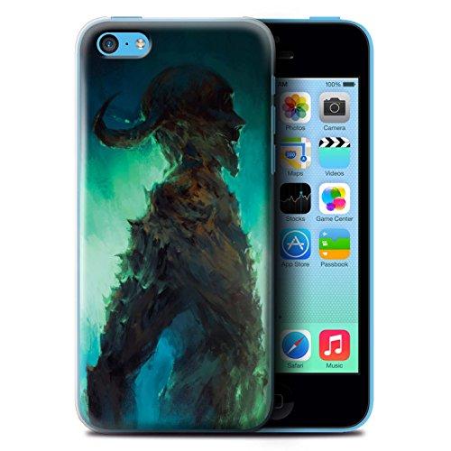 Offiziell Chris Cold Hülle / Case für Apple iPhone 5C / Pack 6pcs Muster / Dämonisches Tier Kollektion Gehörnter Dämon
