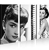 islandburner Bild Bilder auf Leinwand Audrey Hepburn V8 XXL Poster Leinwandbild Wandbild Dekoartikel Wohnzimmer Marke