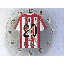Reloj de pared, diseño de camiseta de fútbol de La Ligaespañola