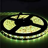 EverBright Super Brightness Amber 5M(16.4Ft) 5050 SMD 300LED Waterproof Flexible Light Strip PCB Black For Car truck Neon Undercar Lighting Kits Mall booth House decoration Stage music Coloreful lights