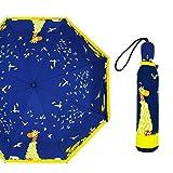 NJSDDB Regenschirm für Damen und Mädchen, kreativ, niedlicher Katze, Regenschirm, Regenschirm, Regenschirm, Regenschirm für Damen, Schwarz