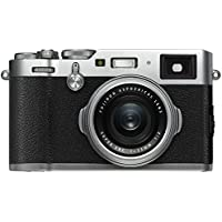 Fuji X100F 24.3 MP 3-Inch LCD CSC Camera with 23 mm f/2.0 Fujinon Lens Kit - Silver