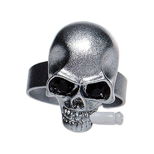 Anello Skull & Cigarette Blue Banana usato  Spedito ovunque in Italia