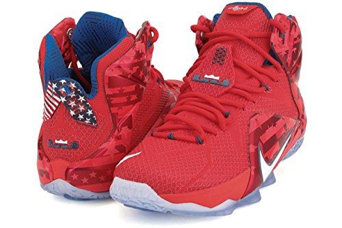 Nike lebron xII chaussures de performance Lite Crimson/White/Bright Crimson