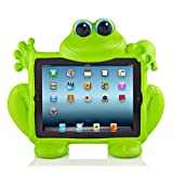 koooky Eddie der Frosch Kinder grün Apple iPad Generation exzellente Tablet Fall – Drop, Schock und kratzfest Tablet Fall mit Auto Kopfstütze Travel Befestigung