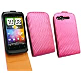 FLASH SUPERSTORE HTC DESIRE S ( NOT DESIRE ) LUXURY CHECK PATTERN FLIP CASE/COVER/POUCH HOT PINK