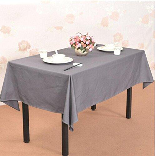 nappe de table Nappe de nappe nappe nappe de nappe de coton nappe de Western nappe de nappe de couleur unie 140 * 220cm Tapis de table (Couleur : Gris, taille : 140 * 220cm)